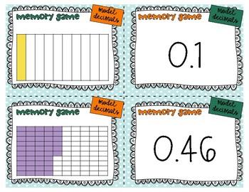 Memory Game Model Decimals 5.nbt.1