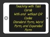 Model form to Word Form, Standard Form, Expanded Form (QR codes)
