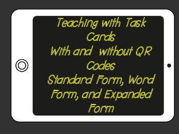 Model form to Word Form, Standard Form, Expanded Form (QR codes)