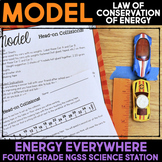 Model the Law of Conservation of Energy - Head-on Collisions