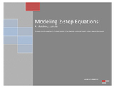Model 2-Step Equations: A 4-Way Matching Activity TEKS 7.11A