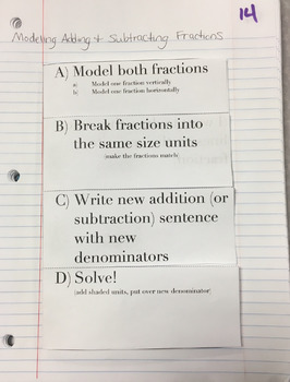 Modeling Addition & Subtraction of Fractions (Engage NY 5th Grade Module 3)