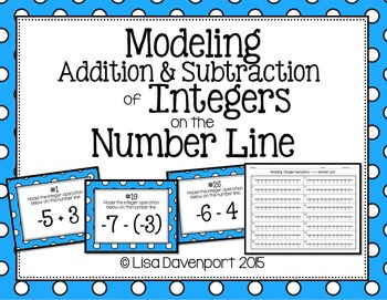 Modeling Addition & Subtraction of Integers on the Number
