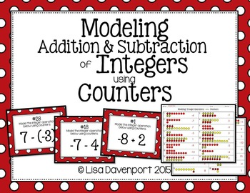 Modeling Addition & Subtraction of Integers using Counters