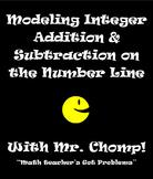 Modeling Integer Addition & Subtration on the number line with Mr.Chomp 7.NS.1