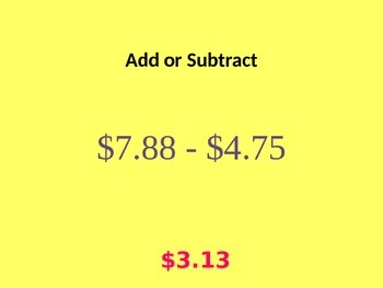 Modeling Addition and Subtraction of Decimals