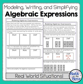 Expressions (Modeling, Writing and Simplifying) Notes and