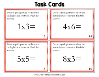 3rd Grade Go Math 3.5 Problem Solving Model Multiplication Task Cards