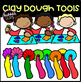 Modeling Clay Dough Fun Tools Clipart (scribble clips)