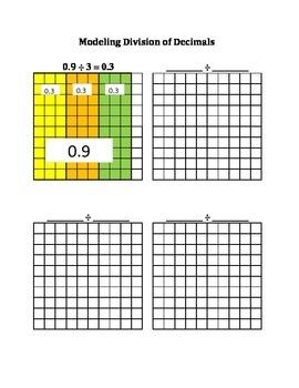 Modeling Decimal Division