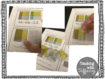 Modeling Decimal Multiplication Transparency Activity 5.NBT.7 5.3D