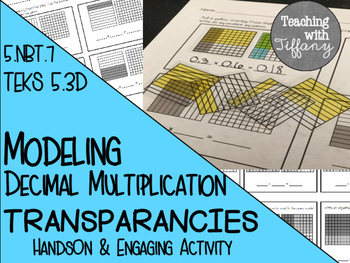Modeling Decimal Multiplication Transparency Activity 5.NB