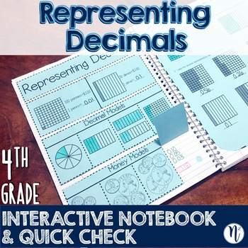 Modeling Decimal Numbers Interactive Notebook Activity & Quick Check TEKS 4.2E