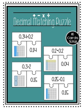 Modeling Decimals Matching Puzzle