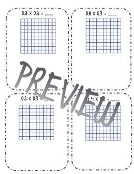 Modeling Decimals by Decimal Multiplication Interactive Notes