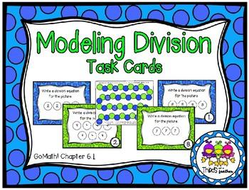 Modeling Division Task Cards (Grade 3 GoMath!6.1)