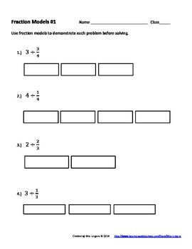 Modeling Division of Fractions & Whole Numbers Unit