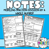Modeling Division of Fractions by Whole Numbers Notes