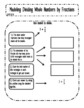 Modeling Division of Whole Numbers and Fractions Interacti