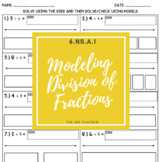 Modeling Division with Fractions Practice