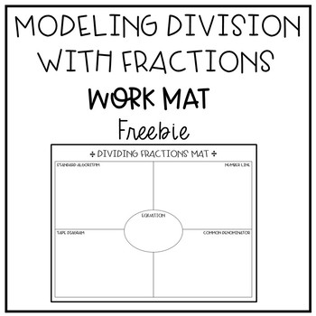 Modeling Division with Fractions Work Mat