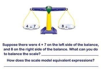 Modeling Equivalent Algebraic Expressions Algebra Smartboard Lesson Model