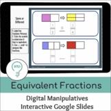 Modeling Equivalent Fractions   Interactive Digital Visual Models