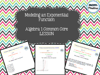 Modeling Exponential Functions Lesson 1 of 2