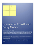 Modeling Exponential Growth and Decay