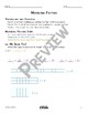 Modeling Factors Math Video and Worksheet