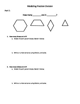 Modeling Fraction Division with Pattern Blocks