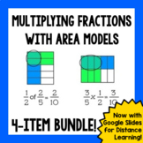 Multiplying Fractions with Area Models - 4-item Bundle!