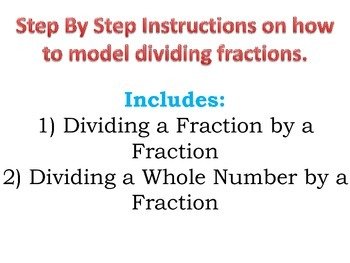 Modeling Fractions Step by Step Instructions