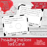 Modeling Fractions Task Cards | TEKS 3.3a | Math Intervention | Test Prep