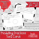 Modeling Fractions Task Cards | TEKS 3.3a | Math Intervent