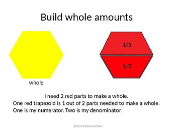 Modeling Fractions with Pattern Blocks