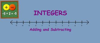 Modeling Integer Addition and Subtraction Smartboard Notebook Lesson