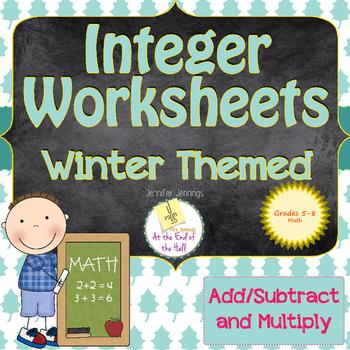 Modeling Integers Worksheets