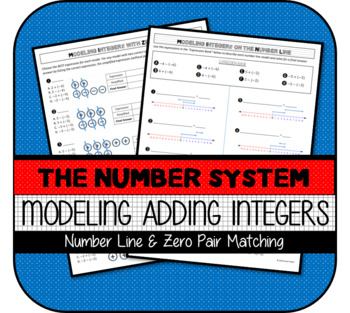 Modeling Integers on Number Line and with Zero Pairs Practice