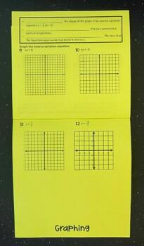 Modeling Inverse Variation (Foldable)
