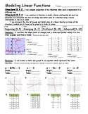 Modeling Linear Functions Assessment - 8.F.2 and 8.F.2