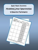Modeling Linear Relationships