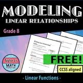 Modeling Linear Relationships Worksheet