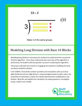 Modeling Long Division with Base 10 Blocks