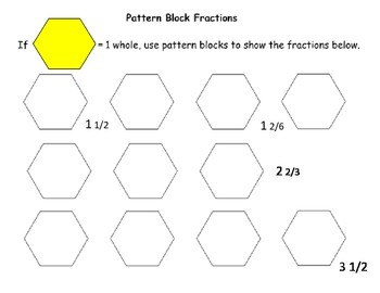 Modeling Mixed Numbers with Pattern Blocks