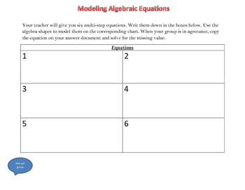 Modeling Multi-Step Equations