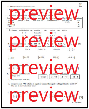 7.NS.2 Modeling Multiplication of Negatives as Repeated Addition