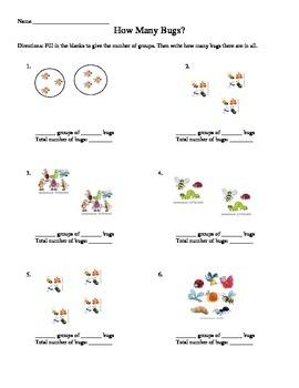 Modeling Multiplication Worksheet - VA SOL 3.6