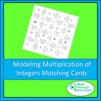 Middle School:  Match the Squares Puzzle - Modeling Multiplication of Integers