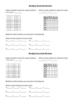 Modeling Multiplying Decimal Stations